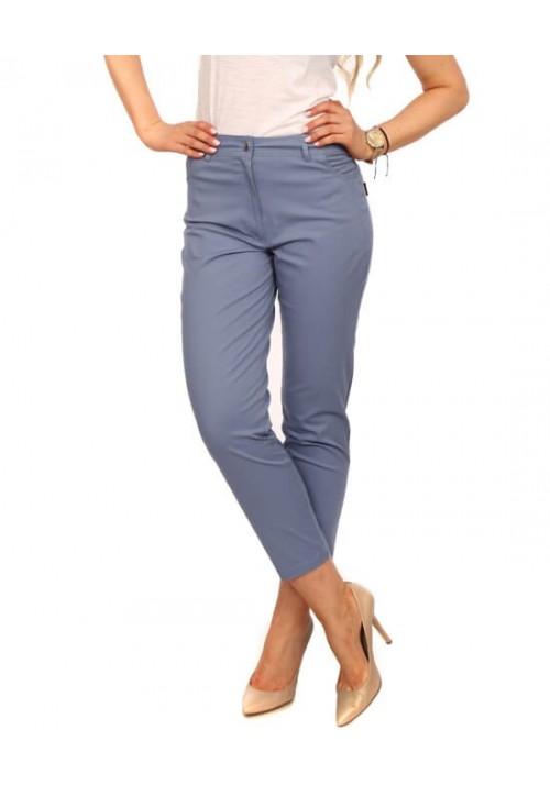 SPODNIE RURKI BAWEŁNA KOLORY jasny jeans