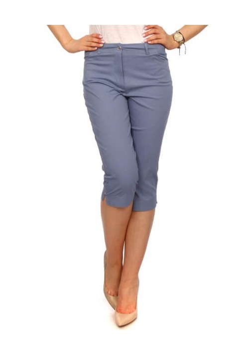RYBACZKI DAMSKIE SPODNIE BAWEŁNA jasny jeans
