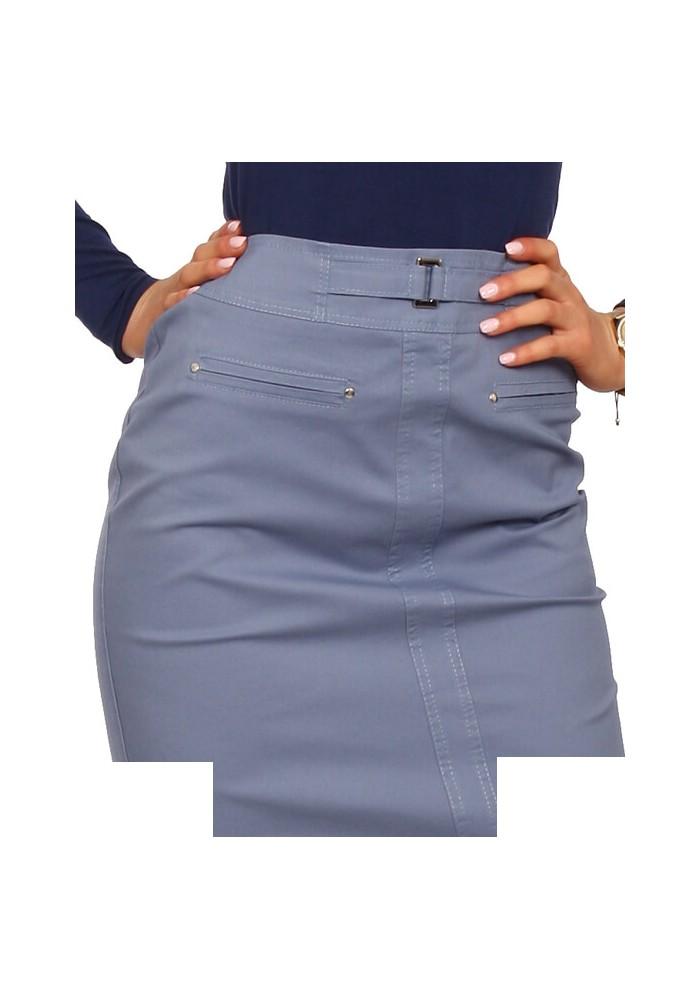SPÓDNICZKA BAWEŁNA OŁÓWEK KOLORY jasny jeans